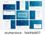 big set of vector templates for ... | Shutterstock .eps vector #566966857