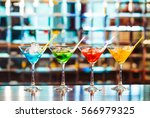 multicolored cocktails at the... | Shutterstock . vector #566979325