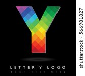 letter y logo design concept in ... | Shutterstock .eps vector #566981827