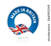 made in great britain flag blue ... | Shutterstock .eps vector #566992549