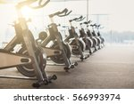modern gym interior with... | Shutterstock . vector #566993974