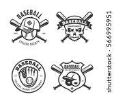 baseball labels badges emblems...   Shutterstock .eps vector #566995951