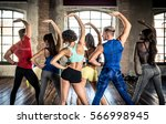professional dancer class in... | Shutterstock . vector #566998945