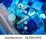 infographic agianst pcb board