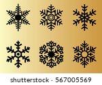 snowflake vector icon... | Shutterstock .eps vector #567005569