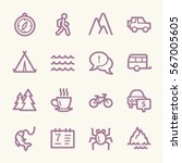 travel web icons.  vacation and ...