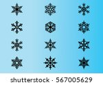 snowflake vector icon... | Shutterstock .eps vector #567005629