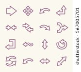 arrows web icons.  forward and... | Shutterstock .eps vector #567005701