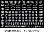 silver ribbon banner label... | Shutterstock .eps vector #567006949