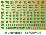 label ribbon banner gold vector ... | Shutterstock .eps vector #567009409