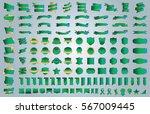 label ribbon banner green... | Shutterstock .eps vector #567009445