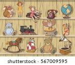set of children's toys  vector... | Shutterstock .eps vector #567009595