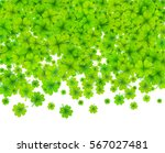 green vector four leaf clovers... | Shutterstock .eps vector #567027481