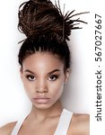 portrait of young beautiful...   Shutterstock . vector #567027667