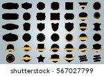 black frame vector icon design... | Shutterstock .eps vector #567027799