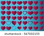 red heart vector icon... | Shutterstock .eps vector #567032155