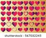 red heart vector icon... | Shutterstock .eps vector #567032245