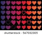 red heart vector icon... | Shutterstock .eps vector #567032305