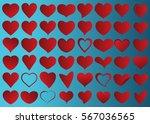 red heart vector icon... | Shutterstock .eps vector #567036565