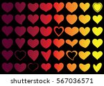 red heart vector icon... | Shutterstock .eps vector #567036571
