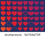red heart vector icon... | Shutterstock .eps vector #567036739