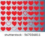 red heart vector icon... | Shutterstock .eps vector #567036811