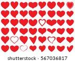 red heart vector icon... | Shutterstock .eps vector #567036817