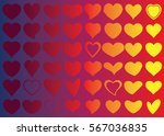 red heart vector icon... | Shutterstock .eps vector #567036835