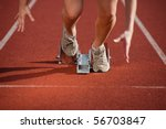 action packed image of a female ... | Shutterstock . vector #56703847