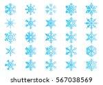 snowflake vector icon... | Shutterstock .eps vector #567038569