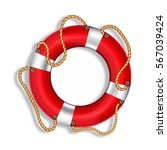 lifebuoy  red  isolated  vector ...   Shutterstock .eps vector #567039424