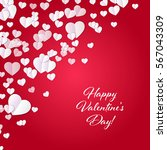 valentine's day background with ... | Shutterstock .eps vector #567043309