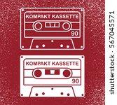 audio compact cassette tape....   Shutterstock .eps vector #567045571