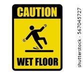 wet floor warning sign | Shutterstock .eps vector #567045727