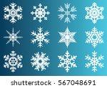snowflake vector icon... | Shutterstock .eps vector #567048691