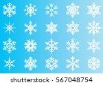 snowflake vector icon... | Shutterstock .eps vector #567048754