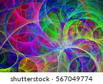 abstract fractal multicolor... | Shutterstock . vector #567049774
