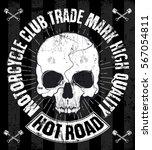 skull t shirt graphic design | Shutterstock . vector #567054811