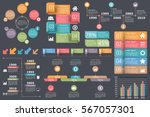 set of infographic elements  ... | Shutterstock .eps vector #567057301