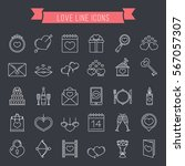 30 love line icons  can be used ... | Shutterstock .eps vector #567057307