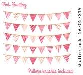 pink bunting  design elements... | Shutterstock .eps vector #567057319