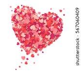 vector flying heart made from... | Shutterstock .eps vector #567060409
