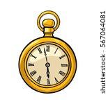 antique pocket watch. vintage...   Shutterstock .eps vector #567064081