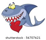 an illustration of a shark and... | Shutterstock .eps vector #56707621