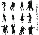 set of smooth different dancing ... | Shutterstock .eps vector #56707909