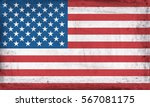 grunge flag of usa. | Shutterstock . vector #567081175
