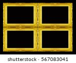 collection 4 gold frame... | Shutterstock . vector #567083041