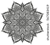 mandala vector tattoo. perfect... | Shutterstock .eps vector #567083419