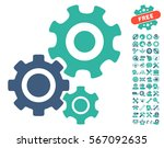 gear mechanism icon with bonus... | Shutterstock .eps vector #567092635