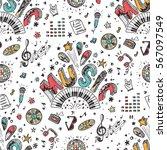 vector music background.... | Shutterstock .eps vector #567097549